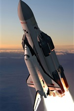 Preview iPhone wallpaper Space shuttle flight, Russian