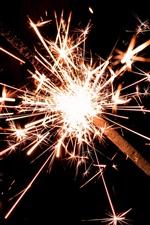 Sparks, holiday, night, glare