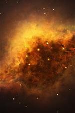 Starry, galáxias, espaço