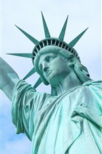 Preview iPhone wallpaper Statue of Liberty, blue sky, USA