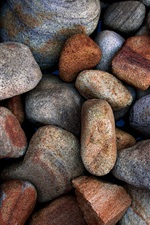 Preview iPhone wallpaper Stones, texture