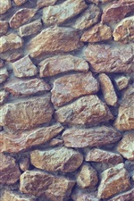 Preview iPhone wallpaper Stones wall