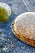 Preview iPhone wallpaper Stones, water, clear