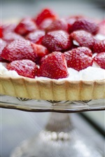 Preview iPhone wallpaper Strawberry pie