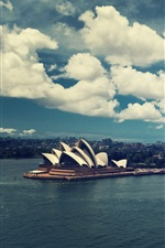Preview iPhone wallpaper Sydney, Australia, city, sea, buildings, boats