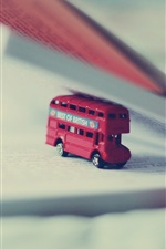 Preview iPhone wallpaper Toy bus, book