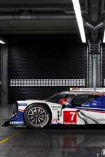 Preview iPhone wallpaper Toyota TS040 Hybrid race car