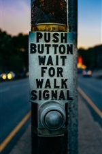 Preview iPhone wallpaper Traffic light button, road, city