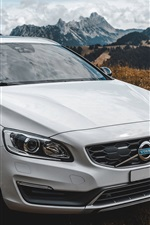 Volvo white car front view