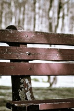 Preview iPhone wallpaper Wood bench, park
