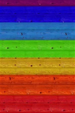 Preview iPhone wallpaper Wood board, rainbow colors