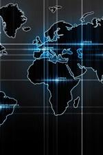 Preview iPhone wallpaper World Map, digital design