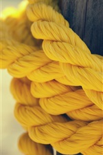 Preview iPhone wallpaper Yellow rope close-up