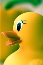Preview iPhone wallpaper Yellow rubber duck, toys
