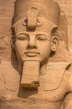 Preview iPhone wallpaper Abu Simbel, ancient statues, Egypt