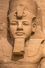iPhone обои Абу-Симбел, древние статуи, Египет