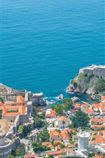 Adriatic Sea, Croatia, Dubrovnik, coast, city, houses, top view
