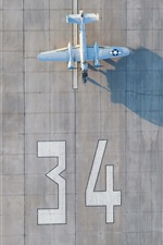 Preview iPhone wallpaper Airport, plane, runway, top view