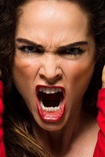 Preview iPhone wallpaper Angry woman