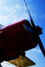 Preview iPhone wallpaper Antonov An-2 aircraft, blue sky, clouds