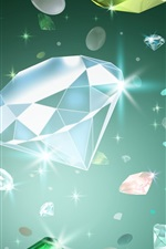 Preview iPhone wallpaper Art drawing, diamond, shine