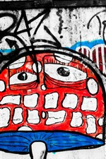 Preview iPhone wallpaper Art graffiti, magic mushroom