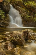 Preview iPhone wallpaper Australia, Victoria, waterfall, stream, stones