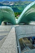 Preview iPhone wallpaper Austria, Innsbruck, Hungerburgbahn, funicular, station