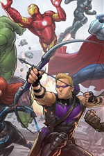 Preview iPhone wallpaper Avengers: Age of Ultron, superheroes, art picture