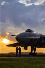 Preview iPhone wallpaper Avro Vulcan, bomber, airfield, dawn