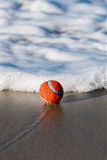 Preview iPhone wallpaper Ball, beach, sea, foam