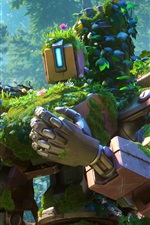 Preview iPhone wallpaper Bastion, robot, cyborg, Overwatch