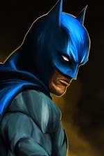 Preview iPhone wallpaper Batman, superhero, art picture