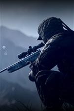 Preview iPhone wallpaper Battlefield 4, soldier, sniper
