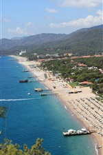 Preview iPhone wallpaper Beach, sea, coast, resort