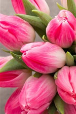 Preview iPhone wallpaper Beautiful pink tulips flowers, bouquet