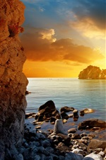 Preview iPhone wallpaper Beautiful sea sunset