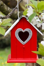 Preview iPhone wallpaper Birdhouse, flowering, spring