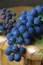 Preview iPhone wallpaper Black grapes, fruit