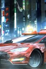 Vorschau des iPhone Hintergrundbilder Blade Runner 2049, Tesla Modell S Auto