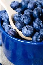 Preview iPhone wallpaper Blueberries, berries, bowl