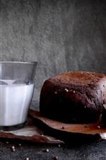 Bread, milk, breakfast