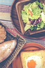 Preview iPhone wallpaper Breakfast, vegetable, bread, egg, coffee