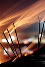 Preview iPhone wallpaper Burning incense, smoke