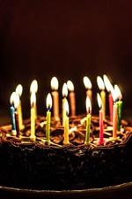 Cake, candles, flame, congratulation