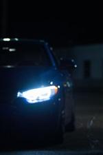 iPhone fondos de pantalla Luces del coche por la noche