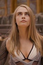 Preview iPhone wallpaper Cara Delevingne, Valerian and the City of a Thousand Planets