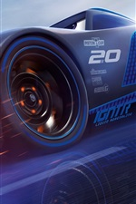 Preview iPhone wallpaper Cars 3, blue supercar speed