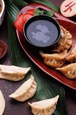 Preview iPhone wallpaper Chinese cuisine, dumplings