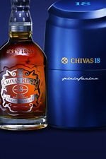 Preview iPhone wallpaper Chivas Regal Whisky, blue, cups